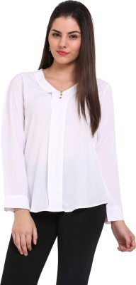Maisha Casual Full Sleeve Solid Women,s White Top