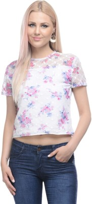 I Know Casual Short Sleeve Embroidered Women,s Pink Top