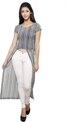Rigo Casual Short Sleeve Self Design Women's Multicolor Top
