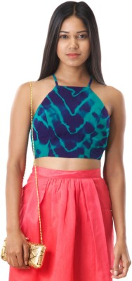 RovingMode Casual Sleeveless Printed Women's Multicolor Top