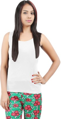 Softwear Casual Sleeveless Solid Women's White Top