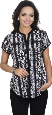 Antilia Femme Casual Short Sleeve Printed Women's Multicolor Top