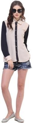 La Firangi Casual Full Sleeve Solid Women's Beige Top at flipkart