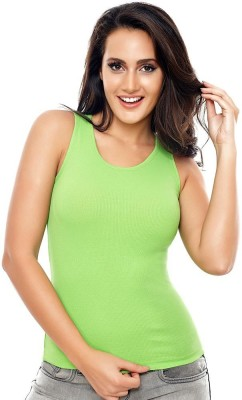 Coucou by Zivame Casual Sleeveless Solid Women's Green Top