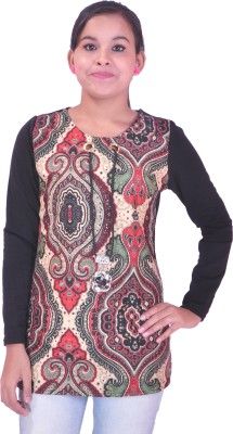 Krazzy Collection Casual Full Sleeve Printed Women's Multicolor Top