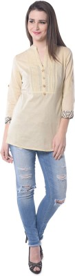 Florrie Fusion Casual Roll-up Sleeve Solid Women's White Top