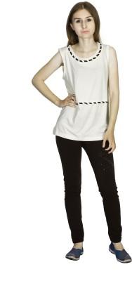 Dream of Glory Inc. Beach Wear, Casual Sleeveless Solid Women's Beige Top