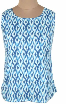 DConcept Casual Sleeveless Printed Women's Blue Top