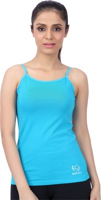 Restless Sports, Casual Sleeveless Solid Women's Light Blue Top