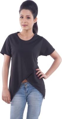 TrendBAE Casual Short Sleeve Solid Women's Black Top