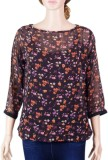 VR Designers Casual 3/4th Sleeve Floral ...