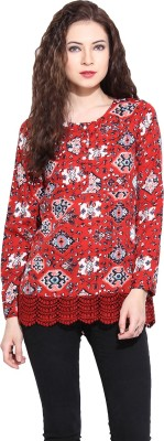 Paprika Casual Full Sleeve Printed Women,s Multicolor Top