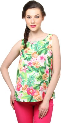Moderno Party Sleeveless Solid Women's Multicolor Top