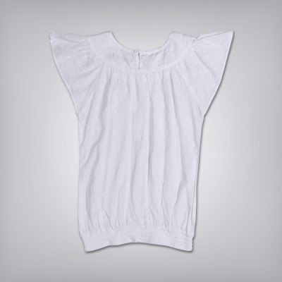 Gini & Jony Casual Sleeveless Solid Girl's White Top
