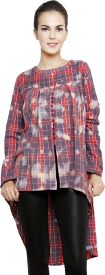 I Am For You Casual Cape Sleeve Checkered Women's Multicolor Top