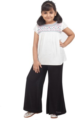 NOQNOQ Casual Short Sleeve Solid Girl's White Top