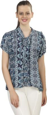 Posto Casual Short Sleeve Printed Women's Multicolor Top