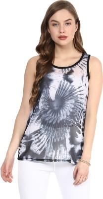 Rose Vanessa Casual Sleeveless Printed Women's Grey Top