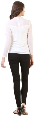 Vvine Party, Casual Full Sleeve Solid Women's White Top