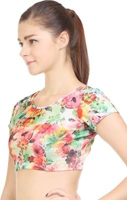 Wear Berry Party Short Sleeve Printed Women's Orange Top