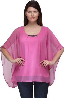 FW Collection Casual Sleeveless Solid Women,s Pink Top
