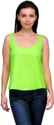 Zachi Casual Sleeveless Solid Women's Light Green Top