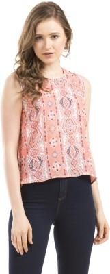 Prym Casual Sleeveless Printed Women's Pink Top