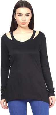Martini Casual Full Sleeve Solid Women's Black Top