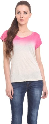 Trend Arrest Casual Short Sleeve Solid Women's Pink Top