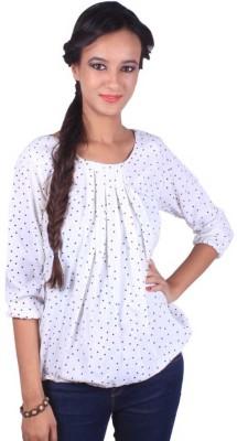 iinfinitii Casual, Party, Lounge Wear 3/4 Sleeve Geometric Print Women's Multicolor Top
