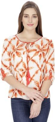 Ihastrenz Casual Full Sleeve Printed Women's Multicolor Top