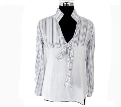 Eleganceranuka Casual Full Sleeve Self Design Women's White Top