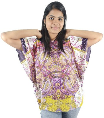 ShopMore Casual Short Sleeve Floral Print Women's Multicolor Top