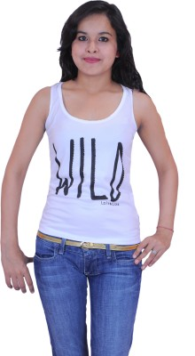 Krazzy Collection Casual Sleeveless Solid Women,s White Top