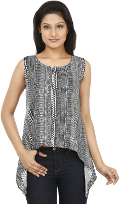 Today Fashion Casual Sleeveless Printed Women's Grey, White Top