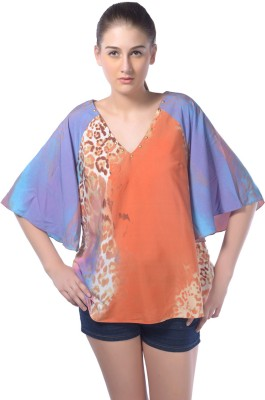 Trendy Divva Casual 3/4 Sleeve Printed Women's Multicolor Top