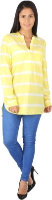 Fashionwardrobe Casual Full Sleeve Printed Women,s Yellow Top