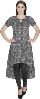 Ihastrenz Casual Short Sleeve Geometric Print Women's Black Top