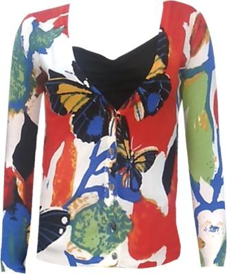 Subhash Emporium Party Full Sleeve Printed Women's Multicolor Top