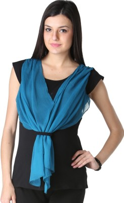 Morph Maternity Casual Cape Sleeve Solid Women's Black Top
