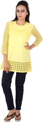 Go4it Casual, Party 3/4 Sleeve Striped Women,s Yellow Top