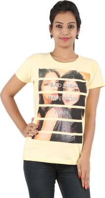 Cute Raskals Party Short Sleeve Graphic Print Women's Yellow Top
