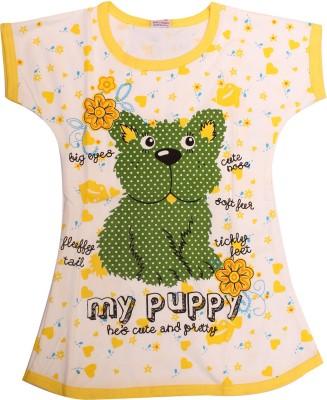 Babeezworld Casual Short Sleeve Animal Print Girl's Yellow Top