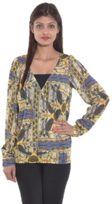 Entease Casual Full Sleeve Printed Women's Multicolor Top