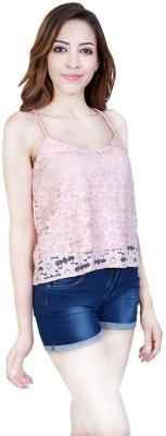 Urban Religion Casual Sleeveless Printed Women's Pink Top