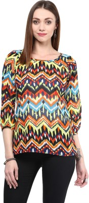 shwetna Casual 3/4 Sleeve Printed Girl,s Multicolor Top