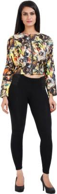 Prnas Casual Full Sleeve Printed Women's Multicolor Top