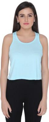 Imagica Casual Sleeveless Solid Women's Light Green Top