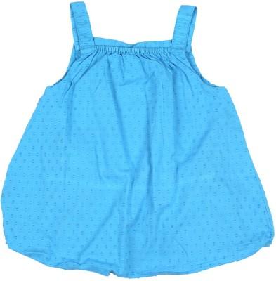 Allen Solly Casual Sleeveless Printed Girl's Blue Top