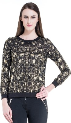 Kazo Casual Full Sleeve Printed Women's Beige Top